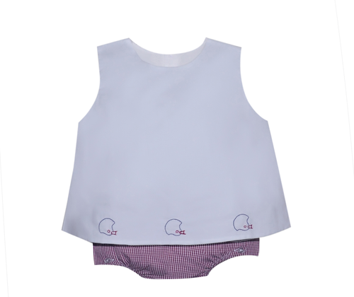 Garnet/Gray Boy Diaper Set