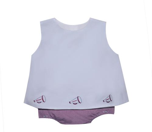 Garnet/Gray Girl Diaper Set