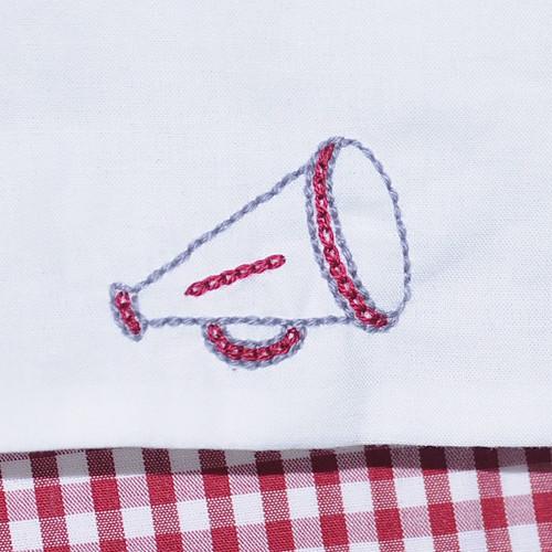 Crimson/Gray Girl Diaper Set