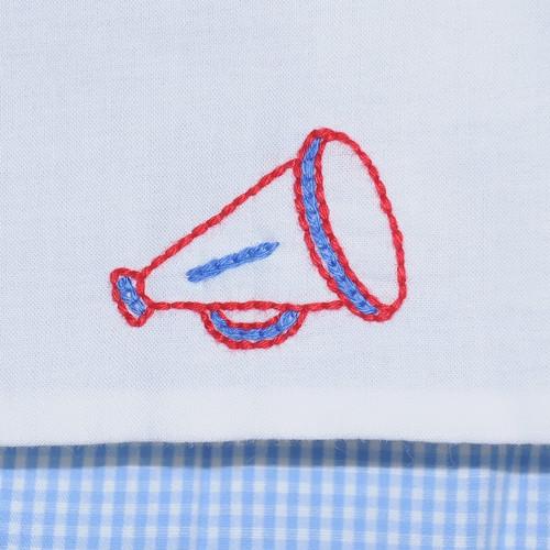 Blue/Red Girl Diaper Set