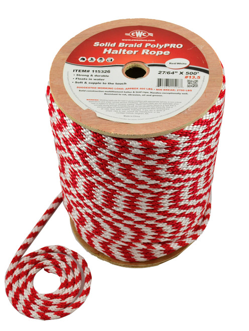CWC® Solid Braid PolyPRO Halter Derby Rope #115326