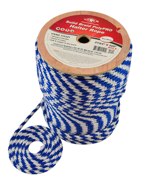 CWC® Solid Braid PolyPRO Lead Halter Derby Rope #115450
