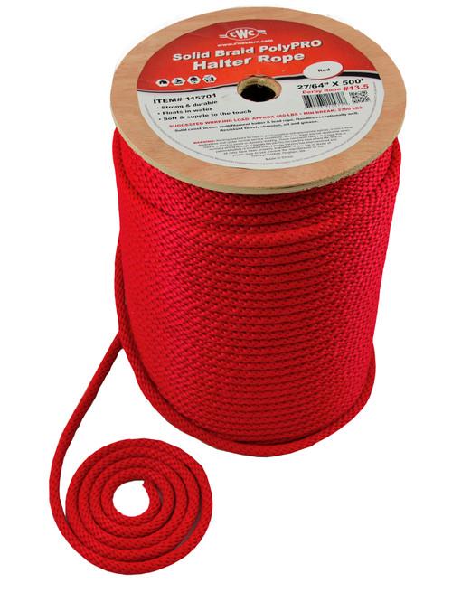 CWC® Solid Braid PolyPRO Halter Derby Rope #115701