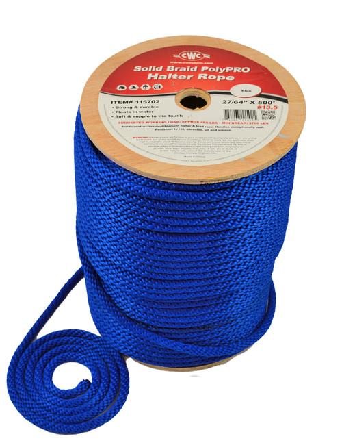 CWC® Solid Braid PolyPRO Halter Derby Rope #115702