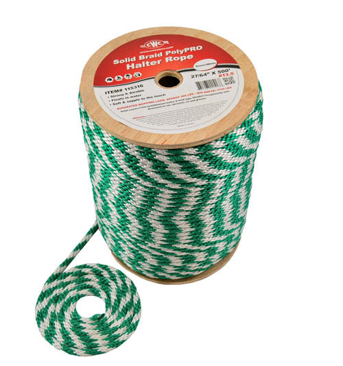 CWC Solid Braid PolyPRO Halter Derby Rope