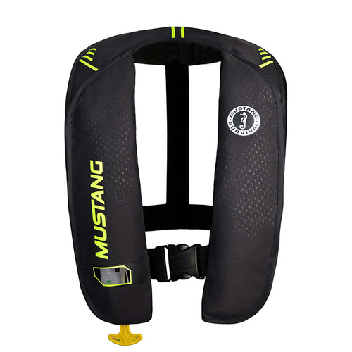 Mustang M.I.T. 100 Auto Inflatable PFD Safety Vest MD2016-02-263BK GRN #MD2016-02-263BK