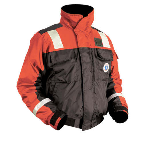 Mustang Survival Classic Flotation Bomber Jacket & Reflective Tape