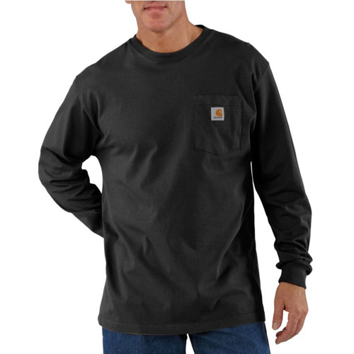 Carhartt Long-Sleeve Workwear Pocket T-Shirt #K126-BLK-3
