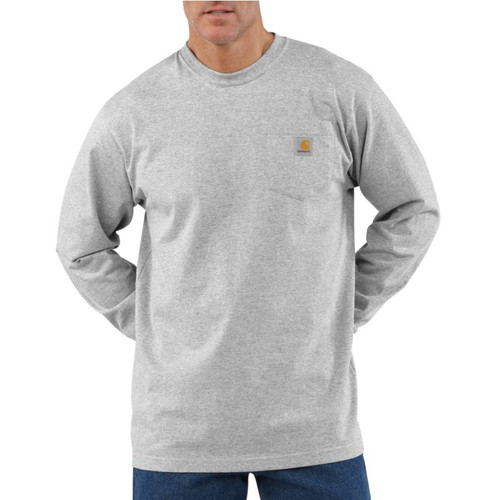 Carhartt Long-Sleeve Workwear Pocket T-Shirt #K126-HGY-1