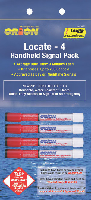 Orion Safety Signals Protected Handheld Flares #865