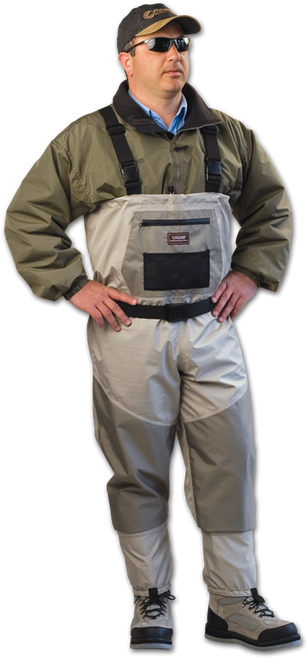 Caddis Deluxe Breathable Stockingfoot Waders #CA12901W - Reg M