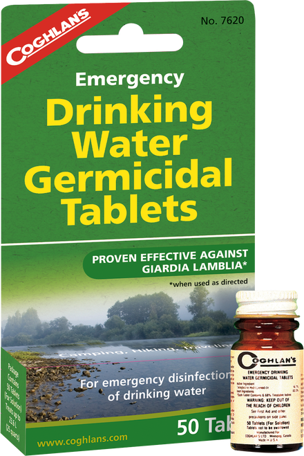 Coghlan's Emergency Germicidal Drinking Water Tablets #7620