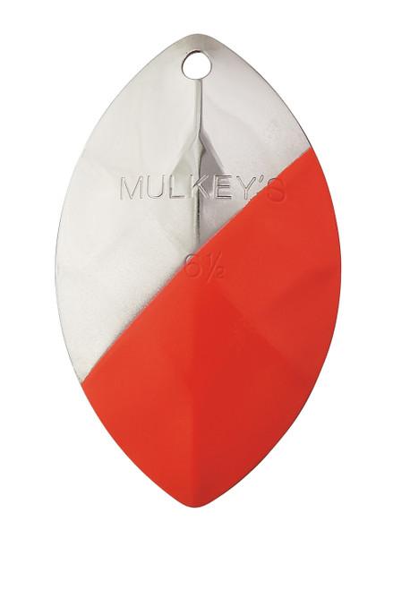 "Yakima Bait Mulkey's Guide Flash UV Spinner Blade Nickel Flame 6-1/2"" #6165U-NFL"
