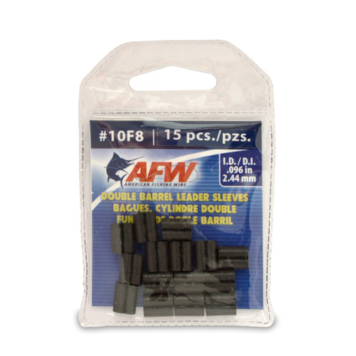 American Fishing Wire Double Barrel Crimp Sleeves #J10F8B-A