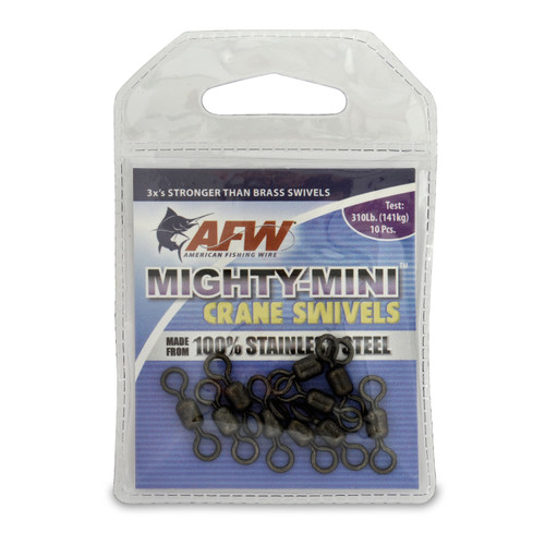 American Fishing Wire Mighty-Mini™ Stainless Steel Crane Swivels #FWSS03B-A