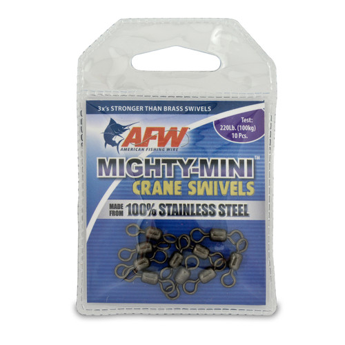 American Fishing Wire Mighty-Mini™ Stainless Steel Crane Swivels #FWSS05B-A