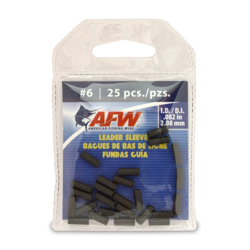 American Fishing Wire Single Barrel Leader Sleeves #J06B-A