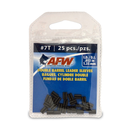 American Fishing Wire Thin Wall Double Barrel Leader Sleeves #J07TB-A