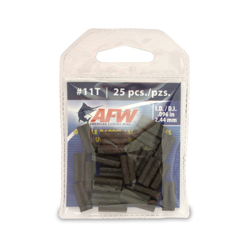 American Fishing Wire Thin Wall Double Barrel Leader Sleeves #J11TB-A