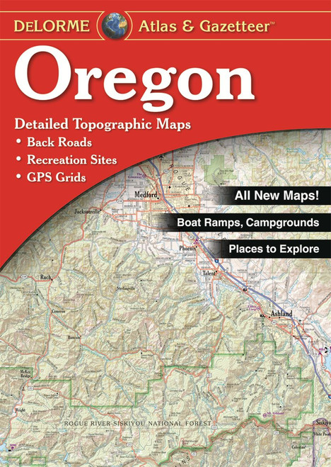 DeLorme Atlas & Gazetteers OREGON #010-012657-00
