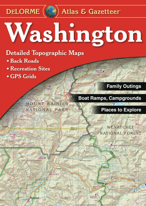 DeLorme Atlas & Gazetteers WASHINGTON #245-5-WA