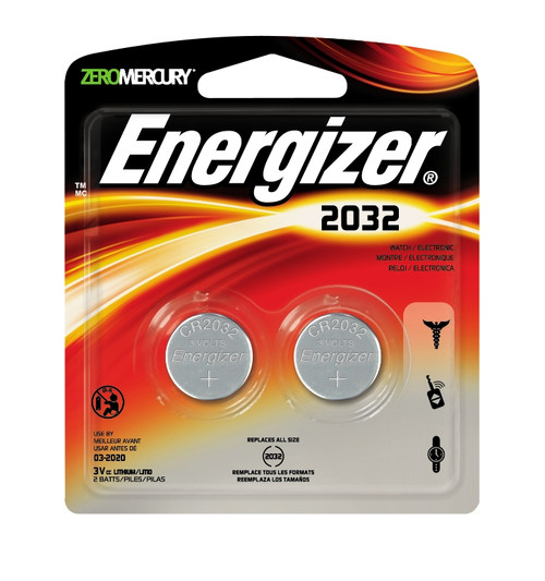 Energizer® Coin Lithium 2032 Battery #2032BP-2