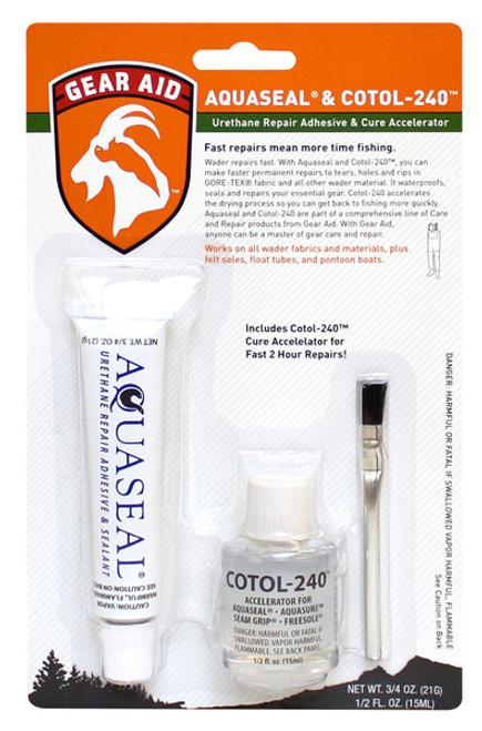 McNett® Gear Aid™ Aquaseal® & Cotol-240™ Repair Adhesive & Cure Accelerator #11110