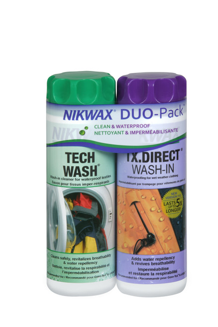 NIKWAX® Hardshell DuoPack™ Wash-In Cleaner & Waterproofing Restorer #103DUO