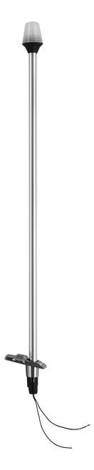 Attwood® Stowaway Light & ZAMAK 2-Pin 12° Light Pole & Base #7100B7