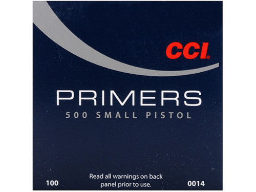 CCI Standard 500 Small Pistol Primers 500 | Small Pistol #0014