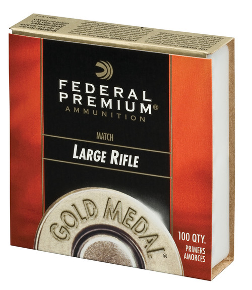 Federal Premium Gold Medal Large Rifle Match Centerfire Primers Large Rifle Match | 100 Pack #GM210M