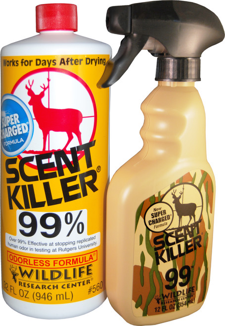 Wildlife Research Scent Killer 99% Odorless Super Charged Spray & Refill Combo #559