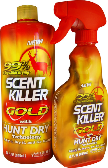 Wildlife Research Scent Killer Gold Hunt Dry Spray & Refill Combo #1259
