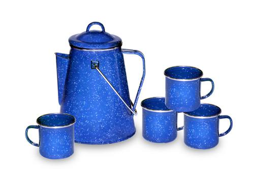 Stansport 8 Cup Percolator & Mug Set #11230