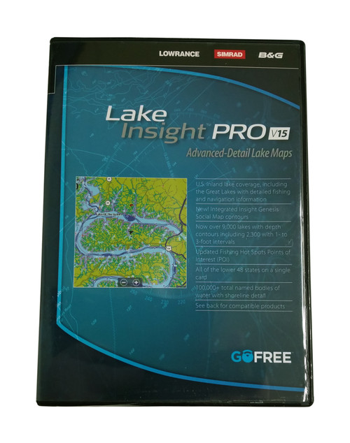 Lowrance Lake Insight PRO V15 Advanced-Detail Lake Maps #12217-001