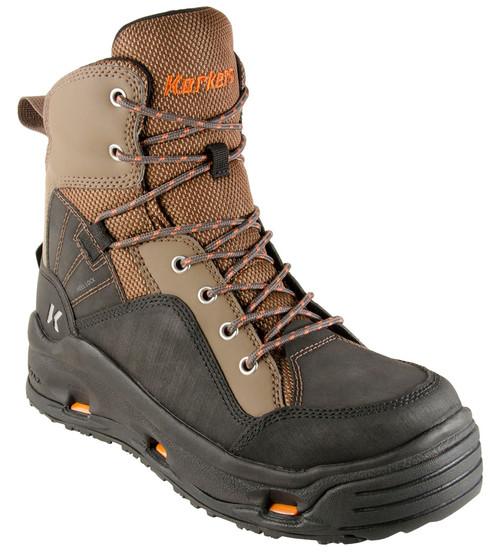 Korkers Buckskin Wading Boots FB4310-15 Brown & Black #FB4310-15