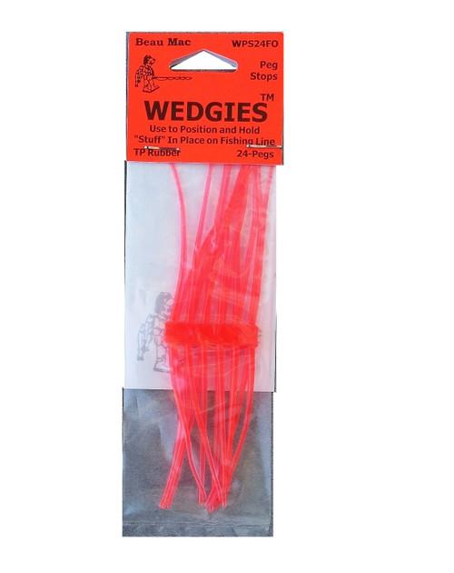 Beau Mac Wedgies TP Rubber Stops Fluorescent Orange #WPS24FO