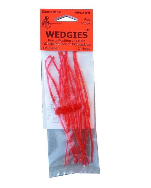Beau Mac Wedgies TP Rubber Stops Fluorescent Red #WPS24FR
