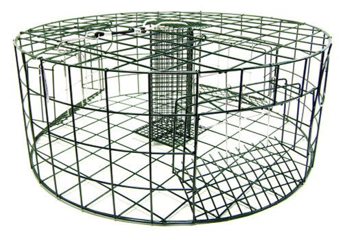 "SMI 3-Short & Square Gate 30""D x 12""H Round Crab Pot #19035"