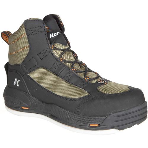 Korkers GreenBack Wading Boots FB4810-9 Tan, Black & Orange Stitch #FB4810-9