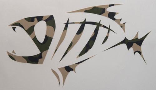 Gloomis Skeletal Logo Boat Decal LG CAMO #55903-01