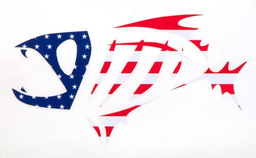 Gloomis Skeletal Logo Boat Decal LG USA #55904-01