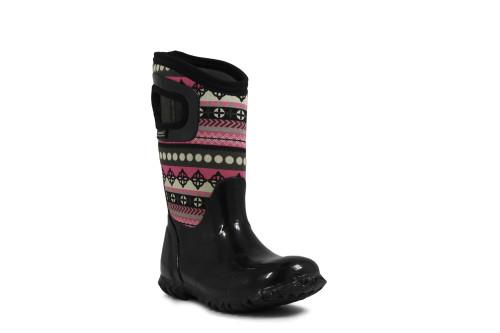 BOGS Kid's North Hampton Stripes Insulated Rain Boots