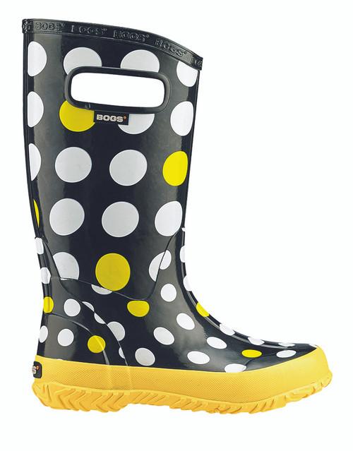 BOGS Kid's Lightweight Waterproof Dot Rain Boots