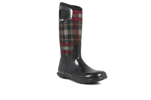 BOGS Women's North Hampton Tall Plaid Insulated Boots