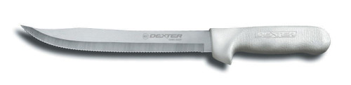 "Dexter Sani-Safe 9"" Scalloped Utility Slicing Knife #13563"