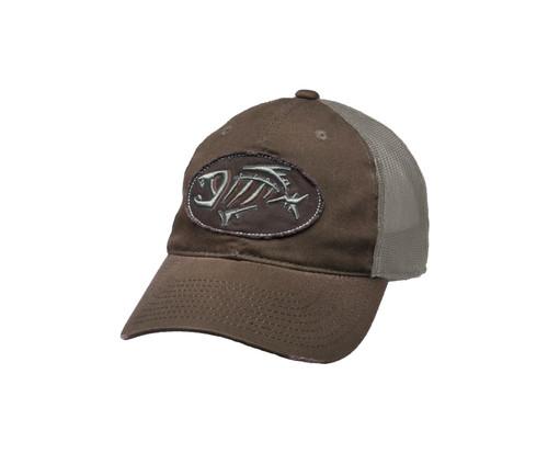 Gloomis Distressed Oval Logo Cap BRN OS #GHATOVALBN