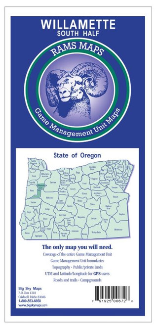 Rams Oregon Game Management Unit Maps WILLAMTT S 672 #672