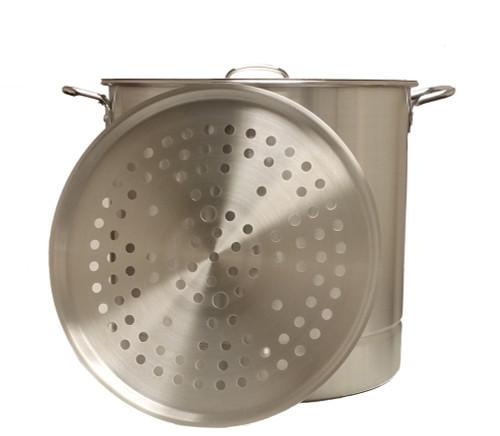 King Kooker 24 Quart Heavy Duty Aluminum Pot & Steamer Plates KK24 #KK24-52