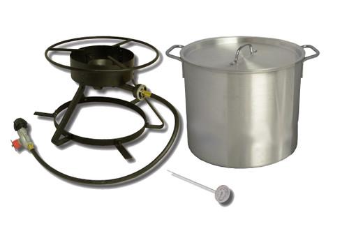 King Kooker Coastal Boiling Outdoor Cooker & 42 Quart Boiling Pot Combo #5002